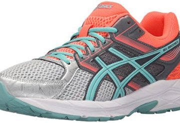 ASICS Women's Gel-Contend 3 Running Shoe, Silver/Pool Blue/Flash Coral, 9 M US