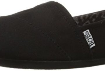 BOBS from Skechers Women's Plush Peace and Love Flat,Black,9 M US