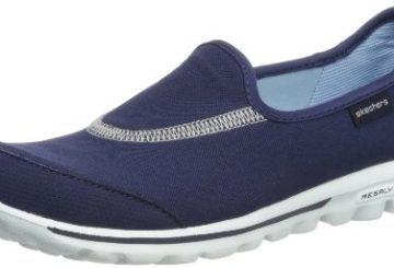 Skechers Performance Women's Go Walk Slip-On Walking Shoe,Navy,8 M US