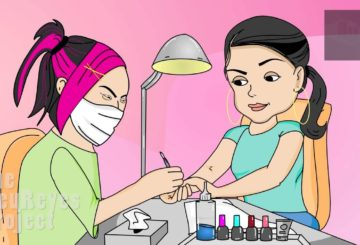 "Anjelah Johnson ""Nail Salon"" Animated Cartoon"